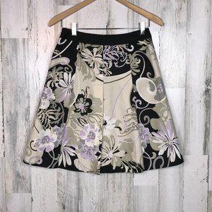 Ann Taylor box pleated silk skirt size 2P